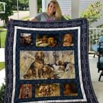 Theartsyhomes Bloodhound Qui26001 3D Personalized Customized Quilt Blanket ESR24