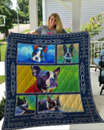 Theartsyhomes Boston Terrier 6 3D Personalized Customized Quilt Blanket ESR16