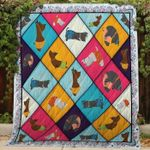 Theartsyhomes Dog Lovers Yoga 3D Personalized Customized Quilt Blanket ESR49