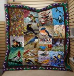 Theartsyhomes Bird And Flower 3D Personalized Customized Quilt Blanket ESR14
