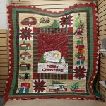 Theartsyhomes Christmas Camper Fabric 3D Personalized Customized Quilt Blanket ESR46