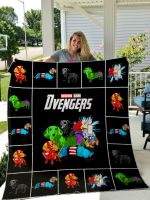 Theartsyhomes Dachshund Avengers 3D Personalized Customized Quilt Blanket ESR35