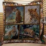 Theartsyhomes Cheetah V1 3D Personalized Customized Quilt Blanket ESR26
