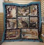 Theartsyhomes CAT 1 3D Personalized Customized Quilt Blanket ESR12