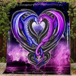 Theartsyhomes Dragon Love 3D Personalized Customized Quilt Blanket ESR8