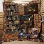 Theartsyhomes Book D0601 84o34 3D Personalized Customized Quilt Blanket ESR43