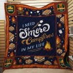 Theartsyhomes Camping Capmfires 3D Personalized Customized Quilt Blanket ESR6