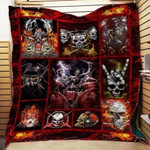 Theartsyhomes Drummer Ghost 3D Personalized Customized Quilt Blanket ESR11