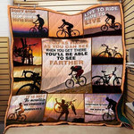 Theartsyhomes Cycling 3D Personalized Customized Quilt Blanket ESR9