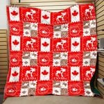 Theartsyhomes Canada Flag Tdq-Qhn0022 3D Personalized Customized Quilt Blanket ESR15