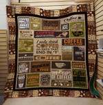 Theartsyhomes Coffee before talkie 3D Personalized Customized Quilt Blanket ESR33