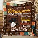 Theartsyhomes Drummer Truly 3D Personalized Customized Quilt Blanket ESR32