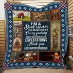 Theartsyhomes Book Expectations 3D Personalized Customized Quilt Blanket ESR3