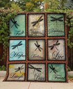 Theartsyhomes Dragonfly Word 3D Personalized Customized Quilt Blanket ESR21