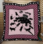 Theartsyhomes Black cat 3D Personalized Customized Quilt Blanket ESR50