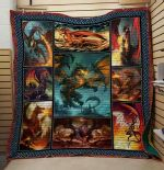 Theartsyhomes Dragon V13 3D Personalized Customized Quilt Blanket ESR20