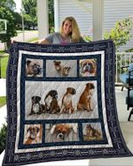 Theartsyhomes Boxer 6 3D Personalized Customized Quilt Blanket ESR2