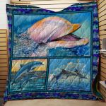 Theartsyhomes Dolphin #Bfeb-02 3D Personalized Customized Quilt Blanket ESR23