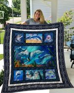 Theartsyhomes DOLPHIN 3D Personalized Customized Quilt Blanket ESR20