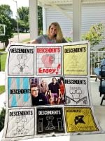 Theartsyhomes Descendents 3D Personalized Customized Quilt Blanket ESR17