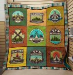 Theartsyhomes Camping Fire: Time To Rest 3D Personalized Customized Quilt Blanket ESR13