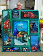 Theartsyhomes Finding Nemo Funny 3D Personalized Customized Quilt Blanket ESR24