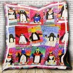Theartsyhomes Color Penguin 3D Personalized Customized Quilt Blanket ESR14