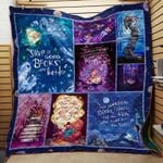 Theartsyhomes Book Happy 3D Personalized Customized Quilt Blanket ESR9
