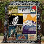 Theartsyhomes CYCLING IS MY LIFE - 3D Personalized Customized Quilt Blanket ESR7