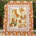 Theartsyhomes Corgi Th197 3D Personalized Customized Quilt Blanket ESR43