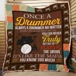 Theartsyhomes Drummer N2602 83o03 3D Personalized Customized Quilt Blanket ESR24