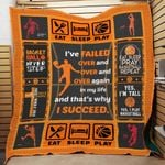 Theartsyhomes Eat sleep pray basketball repeat 3D Personalized Customized Quilt Blanket ESR37