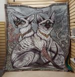 Theartsyhomes Cat into fine 3D Personalized Customized Quilt Blanket ESR44