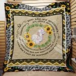 Theartsyhomes Elephant Sunflower M2101 82o40 3D Personalized Customized Quilt Blanket ESR12