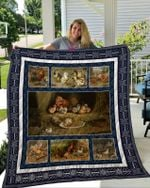 Theartsyhomes Chicken 2 3D Personalized Customized Quilt Blanket ESR4