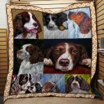 Theartsyhomes English Springer Spaniel Dog 3D Personalized Customized Quilt Blanket ESR47