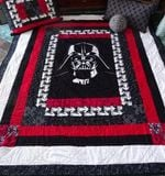Theartsyhomes Darth Vader Fabric 3D Personalized Customized Quilt Blanket ESR19