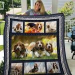 Theartsyhomes Basset Hound Qui15008 3D Personalized Customized Quilt Blanket ESR1