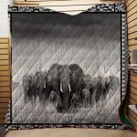 Theartsyhomes Elephant 1511-09 3D Personalized Customized Quilt Blanket ESR32