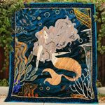 Theartsyhomes Beautiful Mermaid 3D Personalized Customized Quilt Blanket ESR48