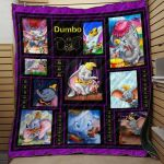 Theartsyhomes Dumbo Fabric 3D Personalized Customized Quilt Blanket ESR40
