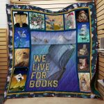 Theartsyhomes Book D0605 84o41 3D Personalized Customized Quilt Blanket ESR50