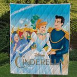 Theartsyhomes Cinderalla ( 2 style ) 3D Personalized Customized Quilt Blanket ESR5