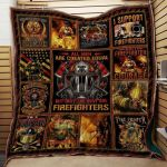 Theartsyhomes Firefighter #1114-9 Ht-Tno 3D Personalized Customized Quilt Blanket ESR44