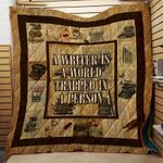 Theartsyhomes Book Writer V3 3D Personalized Customized Quilt Blanket ESR6