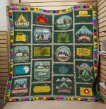 Theartsyhomes Camping Club 3D Personalized Customized Quilt Blanket ESR9