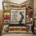 Theartsyhomes Book J1801 84o34 3D Personalized Customized Quilt Blanket ESR22