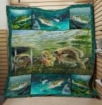Theartsyhomes Fishing V6 3D Personalized Customized Quilt Blanket ESR40