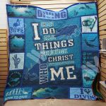 Theartsyhomes Diving M0901 83o36 3D Personalized Customized Quilt Blanket ESR6