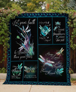Theartsyhomes Dragonfly Angels 3D Personalized Customized Quilt Blanket ESR12
